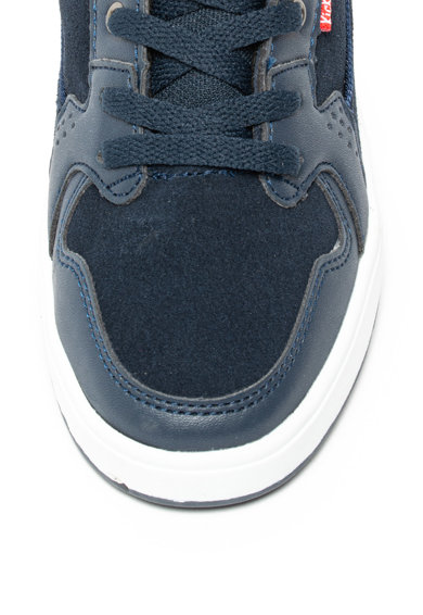 Kickers kids Pantofi sport mid-high cu insertii de piele intoarsa Gready Fete