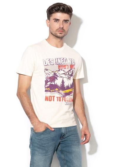 Napapijri Десенирана тениска Seeb с надписи и лого Мъже