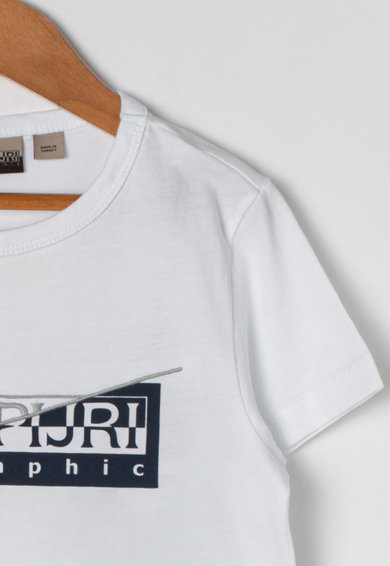 Napapijri Tricou de bumbac, cu imprimeu logo Saky Baieti
