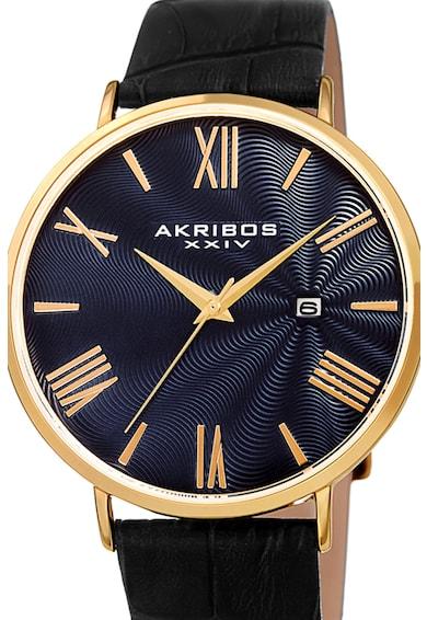 AKRIBOS XXIV Ceas cu o curea de piele Barbati