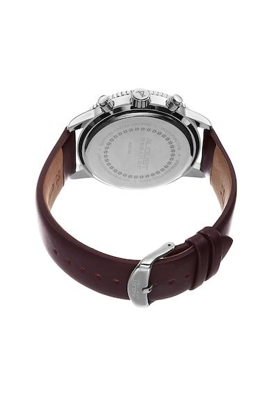 August Steiner Кварцов часовник с кожена каишка Мъже