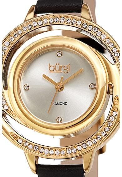 BURGI Ceas decorat cu 4 diamante Femei