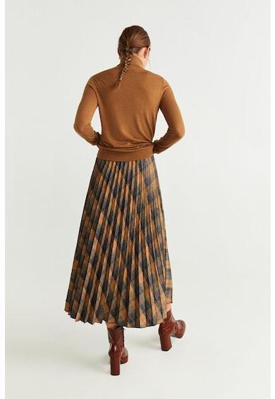 Mango Pulover din amestec de modal cu guler inalt Agata Femei