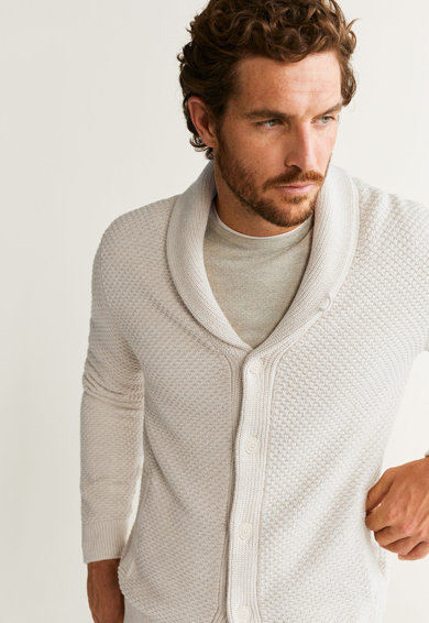 Mango Плетен пуловер Binger Мъже
