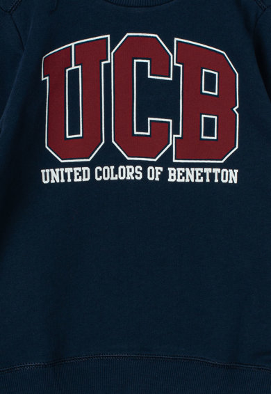 United Colors of Benetton Bluza sport cu imprimeu logo Baieti