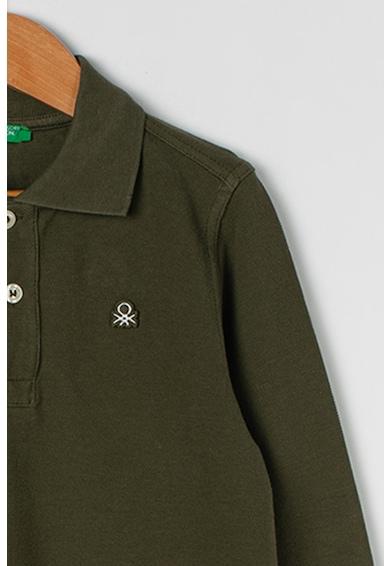 United Colors of Benetton Bluza polo cu logo brodat Baieti