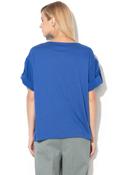 United Colors of Benetton Bluza cu maneci cazute, din amestec de modal si bumbac Femei