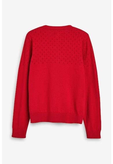 NEXT Cardigan tricotat fin, cu microperforatii Fete