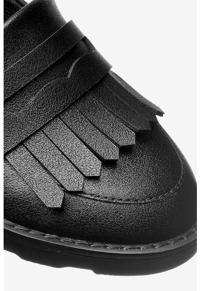 NEXT Pantofi loafer de piele ecologica, cu detaliu cu franjuri Fete
