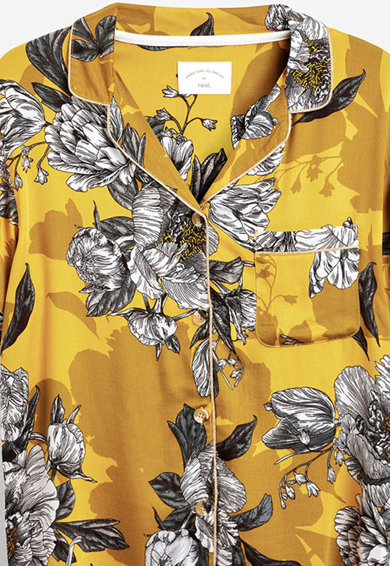 NEXT Pijamale cu imprimeu floral si garnituri contrastante Femei