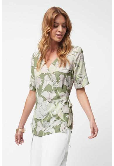 NEXT Bluza cu maneci scurte si model petrecut Femei