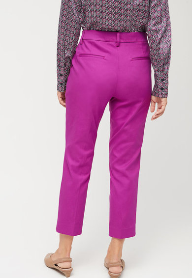 NEXT Pantaloni crop din amestec de bumbac Femei