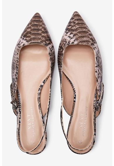 NEXT Обувки с отворена пета и шагрен Жени