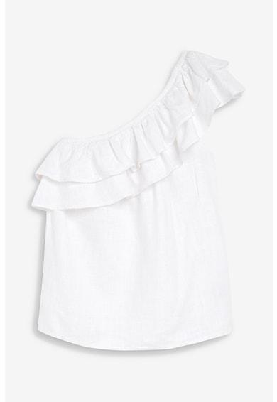 NEXT Bluza din amestec de in cu decolteu pe un umar Femei