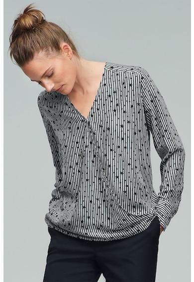 NEXT Bluza cu decolteu cache coeur si imprimeu Femei
