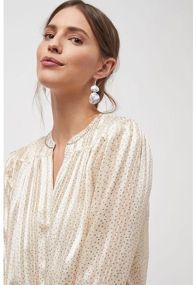 NEXT Camasa tip tunica din satin, cu pliuri si model cu buline Femei