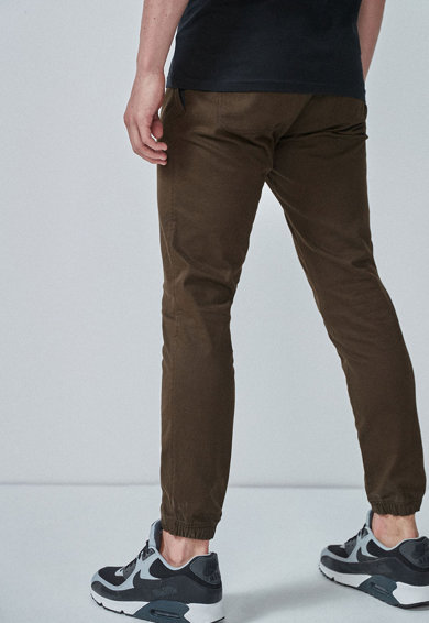 NEXT Pantaloni slim fit cu talie elastica si mansete Barbati