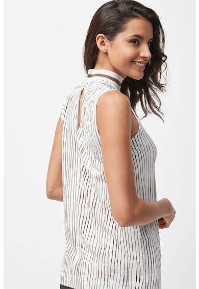 NEXT Top cu dungi si guler inalt din tricot Femei