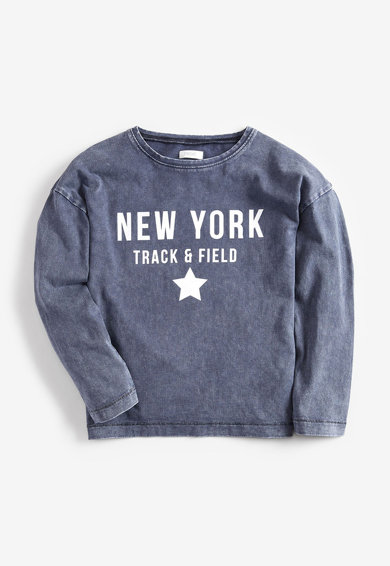 NEXT Bluza sport cu imprimeu text Fete