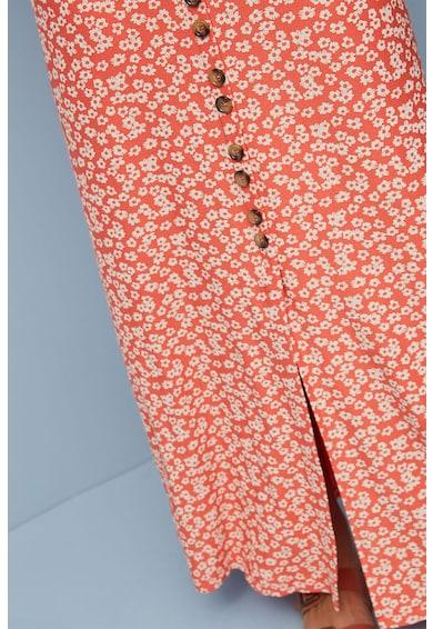 NEXT Fusta maxi cu imprimeu floral si nasturi Femei