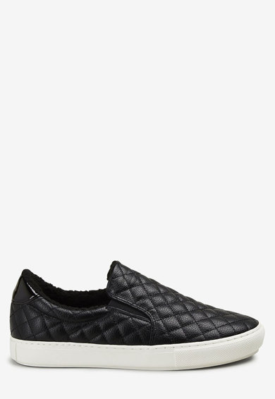 NEXT Pantofi sport de piele ecologica, cu aspect matlasat Femei