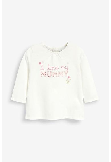 NEXT Bluza de bumbac cu cusaturi si mesaj aplicat Fete