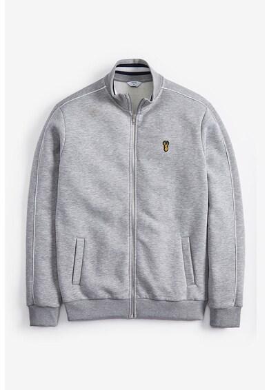 NEXT Bluza sport cu fermoar si aplicatie logo Barbati