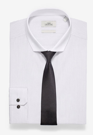 NEXT Set de camasa slim fit cu cravata Barbati