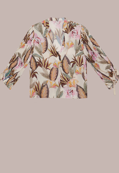 Oltre Тропическа блуза с набрани ръкави Жени