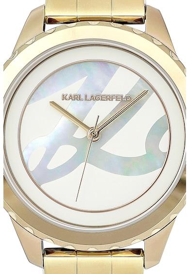 Karl Lagerfeld Ceas cu cadran mother of pearl Femei