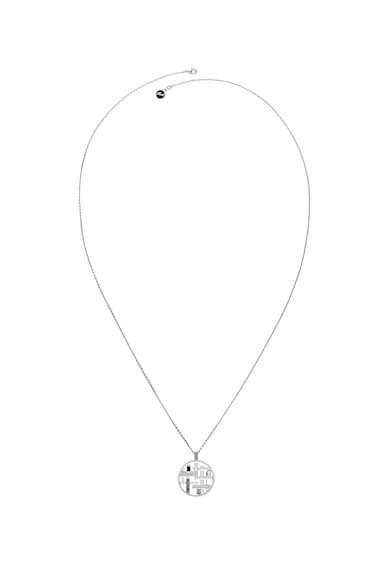 Karl Lagerfeld Colier placat cu rodiu, decorat cu pandantiv rotund Femei