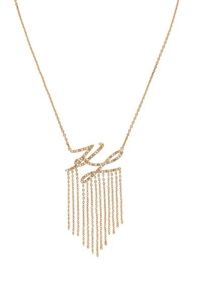 Karl Lagerfeld Colier placat cu aur 12 K, cu cristale Swarovski® Femei