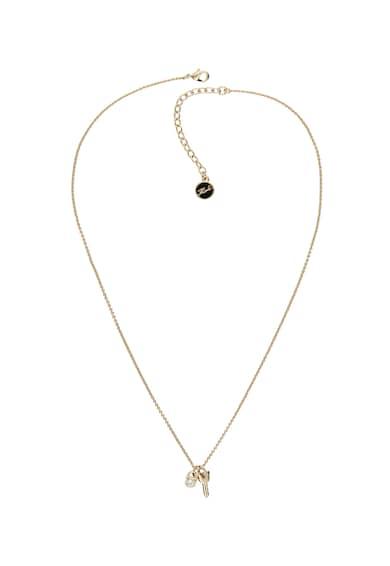 Karl Lagerfeld Colier placat cu aur de 12K, decorat cu cristale Swarovski® Femei