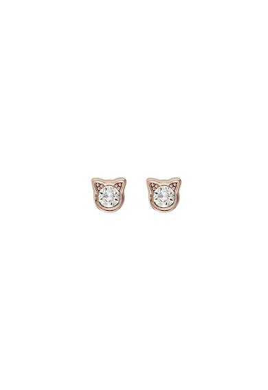 Karl Lagerfeld Cercei cu tija, placati cu aur rose de 12 K, decorati cu cristale Swarovski® Femei