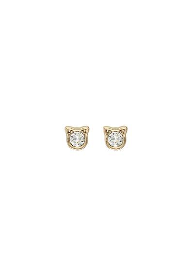 Karl Lagerfeld Cercei cu tija, placati cu aur de 12 K, decorati cu cristale Swarovski® Femei