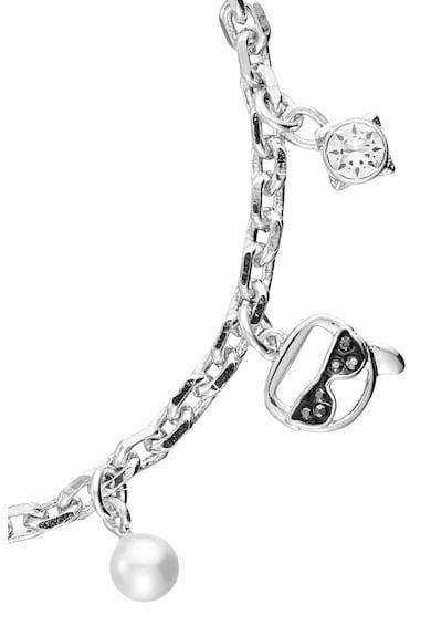 Karl Lagerfeld Bratara placata cu rodiu si decorata cu talismane Femei