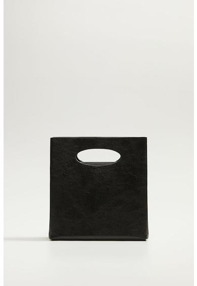 Mango Чанта за рамо от еко кожа с фигурален десен Жени