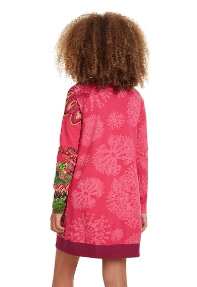 DESIGUAL Rochie cu croiala in A, imprimeu floral si paiete Fete