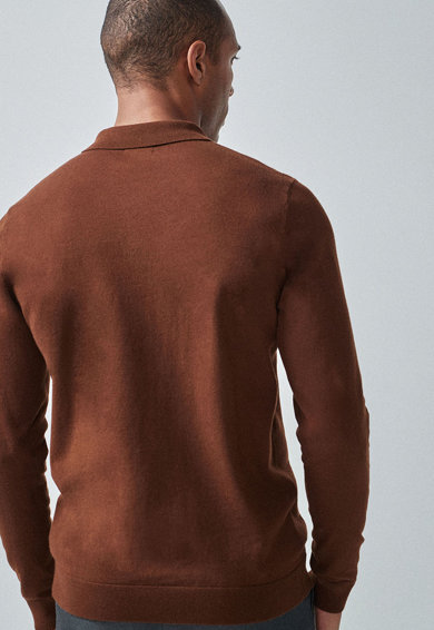 NEXT Bluza polo tricotata Barbati