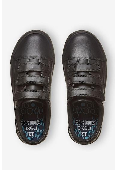 NEXT Pantofi sport de piele cu bretele velcro Baieti