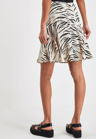 NEXT Fusta mini cu animal print Femei