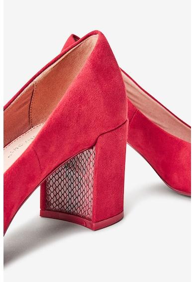 NEXT Pantofi de piele intoarsa ecologica cu toc bloc Femei