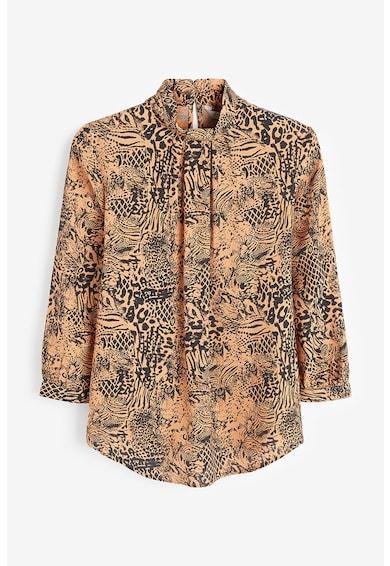 NEXT Bluza cu animal print si guler mediu Femei