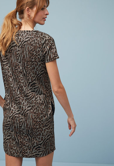 NEXT Rochie tip tricou cu animal print Femei