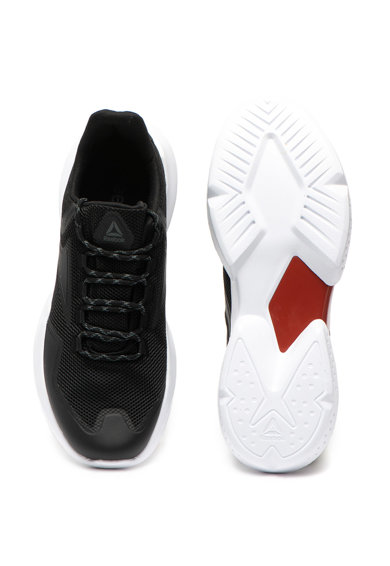 Reebok Pantofi sport slip-on cu garnituri de piele ecologica Split Fuel Barbati