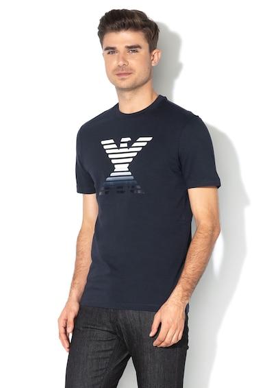 Emporio Armani Tricou cu aplicatie logo cauciucata Barbati