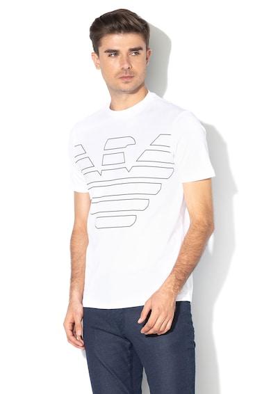 Emporio Armani Tricou cu imprimeu si decolteu la baza gatului Barbati
