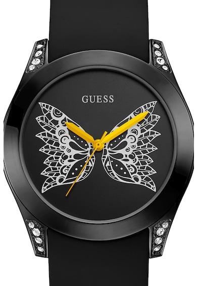 Guess Kerek karóra pillangós mintával a számlapon női