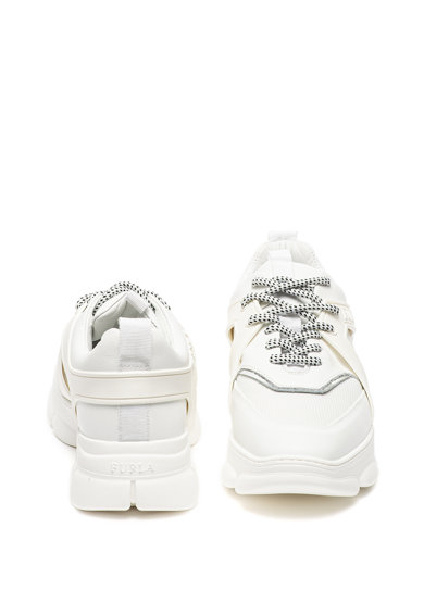 Furla Wonderfurla bőr és textil vastag sarkú sneaker női