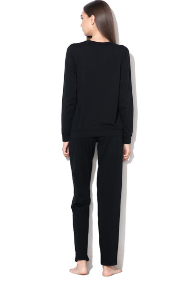 Emporio Armani Underwear Pijama cu strasuri si aplicatie logo Femei